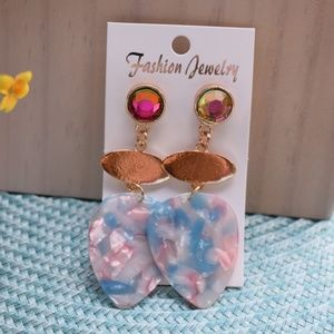 Fun Multi-color Water Drop Earrings